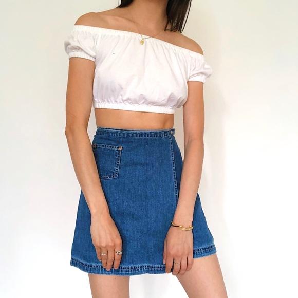 Vintage Dresses & Skirts - Vintage 90s GAP Jean Skirt